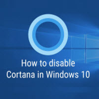 disable cortana windows 10