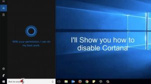 how to turn off cortana