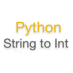int to string python