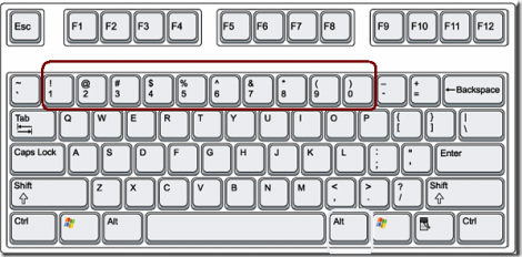 keyboard shortcut for degree symbol