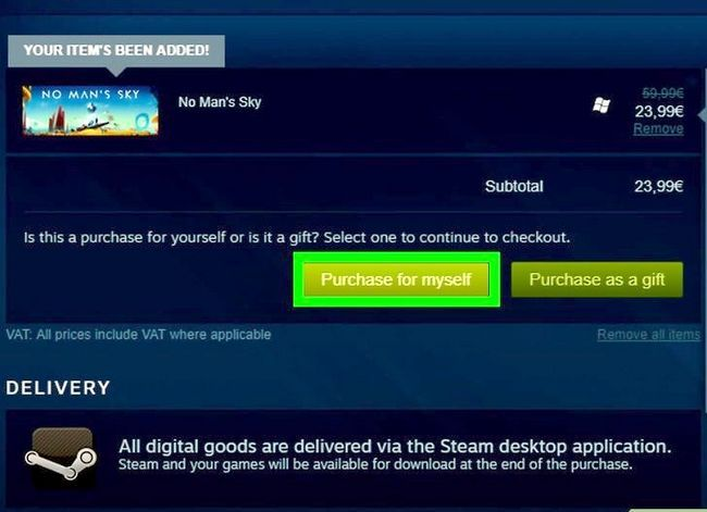 add game to steam cart