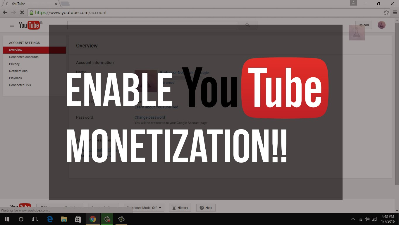 Monetize your video