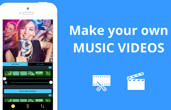 music video maker app for android and iphone