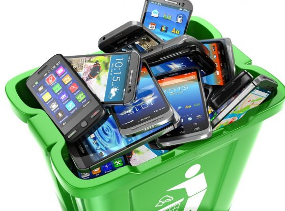 recycled used smartphones