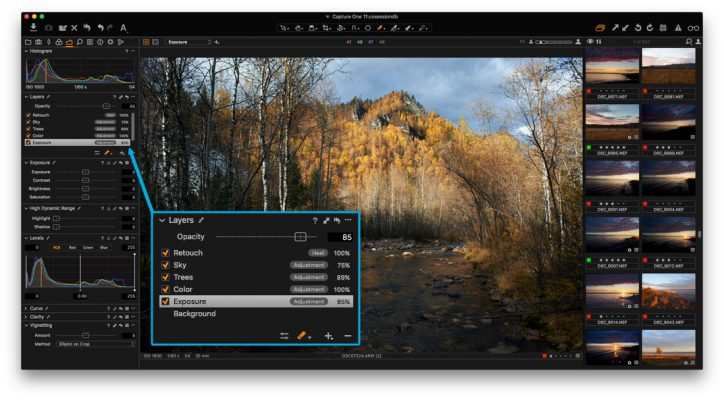 Capture One Pro photo editing