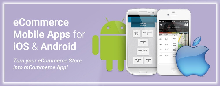 ecommerce Mobile ios & android apps