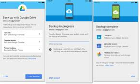 enter google account details for  backup