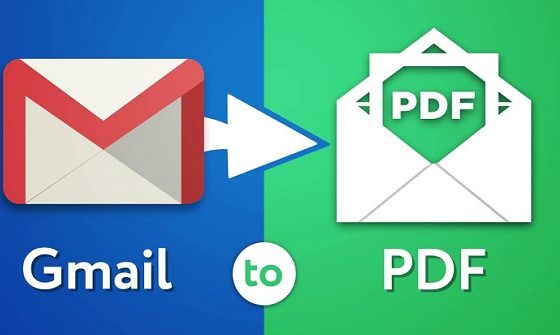 save an email as a PDF on Android