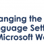 ms word language change