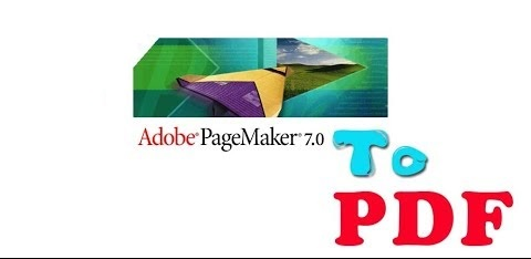adobe page maker to pdf converter