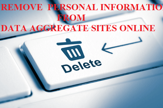 delete my personal information on website