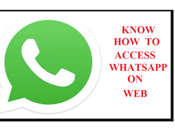 know how to access whatsapp on web